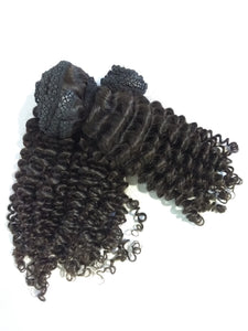 Virgin Peruvian Kinky Curly Cap Not Included