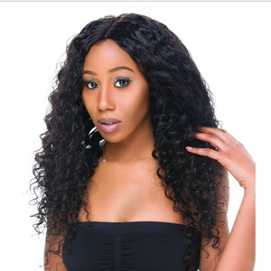 Virgin Peruvian Deep Wave Lace Wig