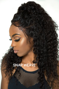 Virgin Peruvian Deep wave 360 Frontal Hair Included
