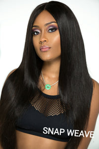 Virgin Peruvian Straight 360 Lace Frontal Wig