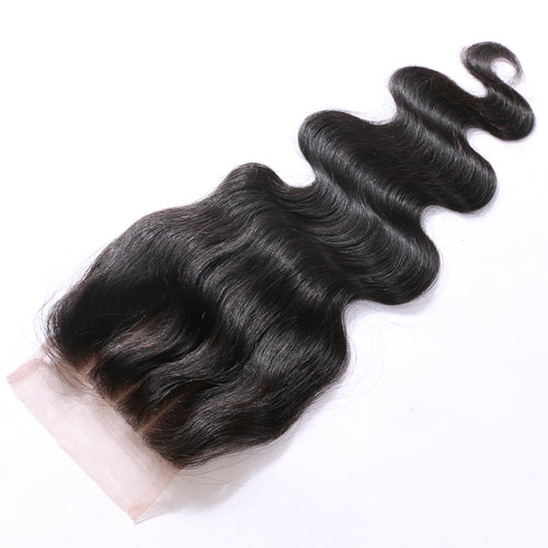 Virgin Brazilian Body Wave Lace Closure Snaps Attached-10% DISCOUNT CODE V9SQ-0208-TKM6