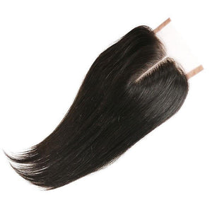 Virgin Brazilian Straight Lace Closure Snaps Attached-10% DISCOUNT CODE V9SQ-0208-TKM6