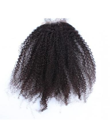 Virgin Brazilian 4C Curl Lace Closure Hair Only-10% DISCOUNT CODE V9SQ-0208-TKM6