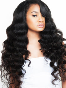 2-3 Bundles Virgin Peruvian Hair Loose Wave! U-Part Wig