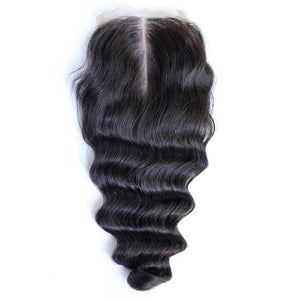 Virgin Brazilian Loose Wave Lace Closure Snaps Attached-10% DISCOUNT CODE V9SQ-0208-TKM6