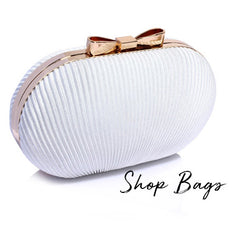 bridal wedding day cltch bags in ivory and white-buy online ireland