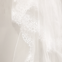 Versailles lace edge cathedral blusher veil