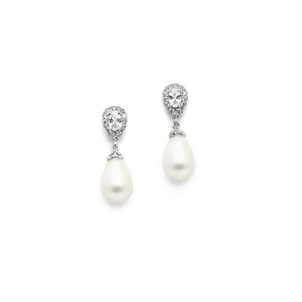 Anita petite pearl drop earring - BRIDES FAVOURITE