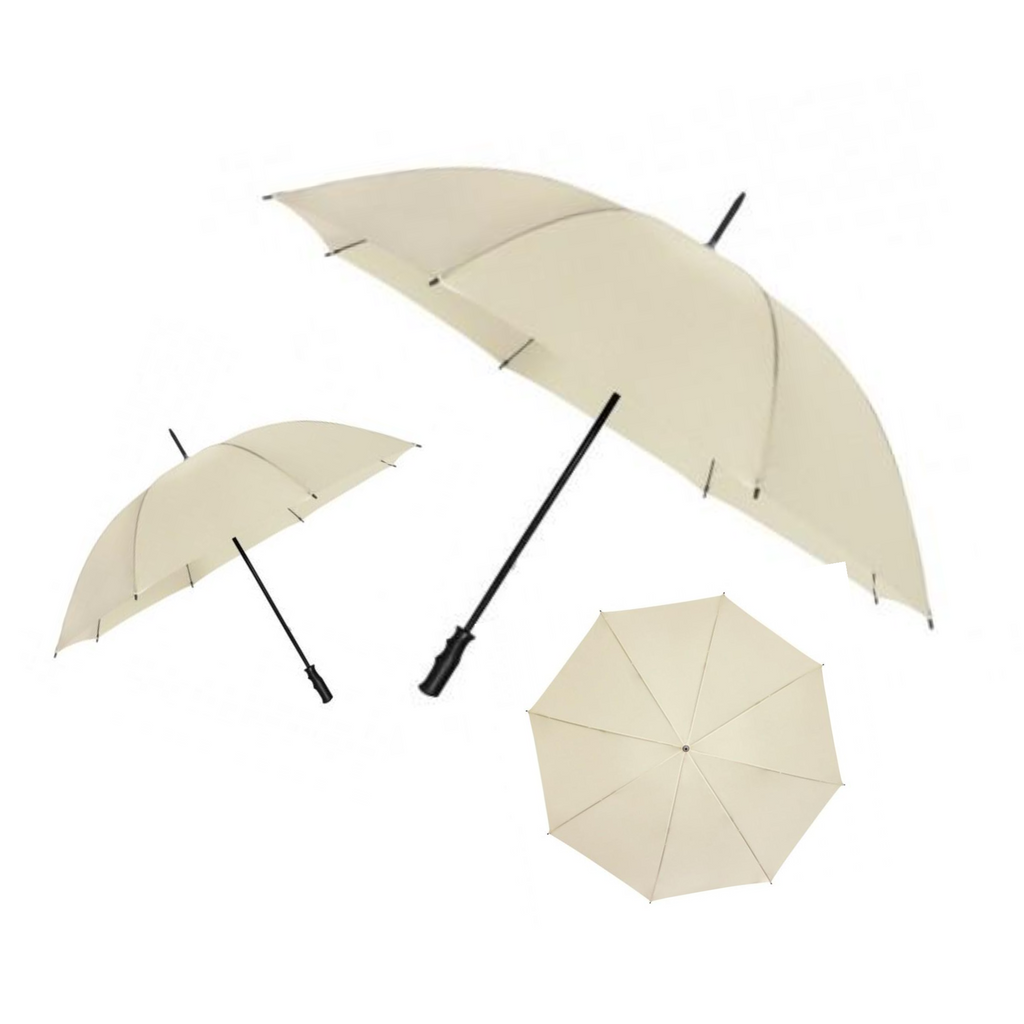 Simple Ivory Umbrella Sets