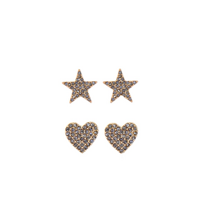 Mix n' Match Heart & Star Stud Set