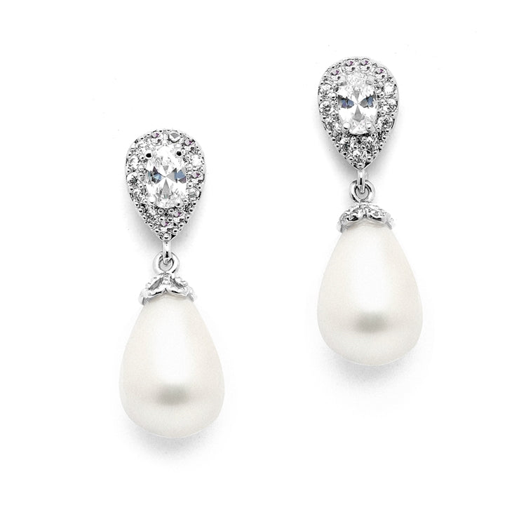 Anita pearl drop earring - BRIDES FAVOURITE