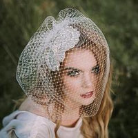 Full Russian net  Birdcage Veil