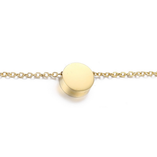 Simple Circle Gold Necklace