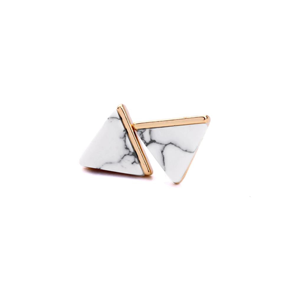 Contemporary Marble Stud  Earrings