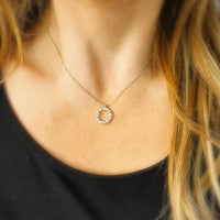 Crystal Simple Circle Pendant