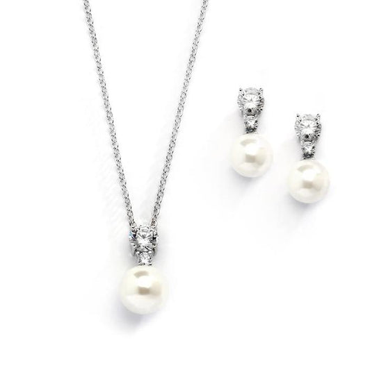 Angela Silver necklace set