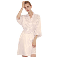Bridal Satin Robe in IVORY