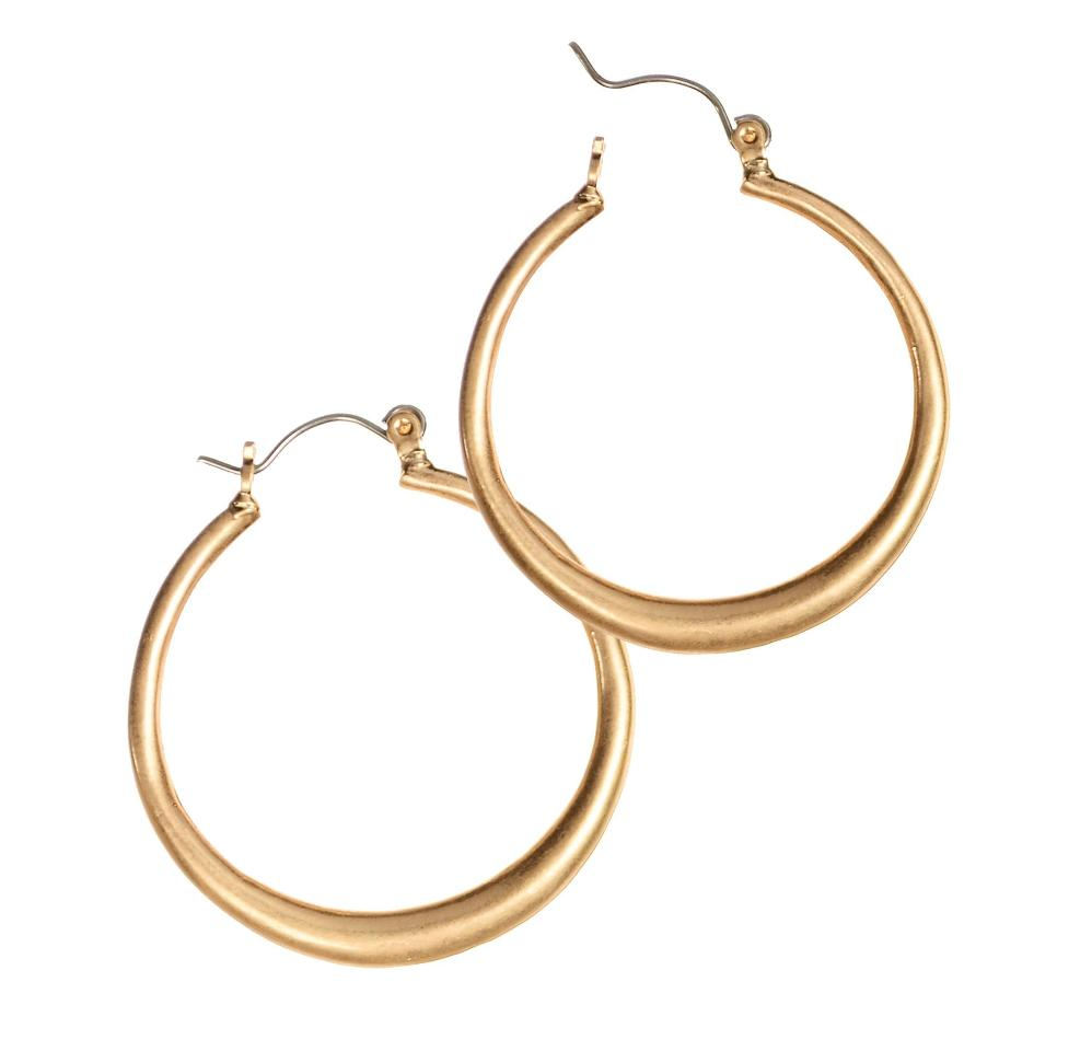 Golden Oldie Hoop Earrings