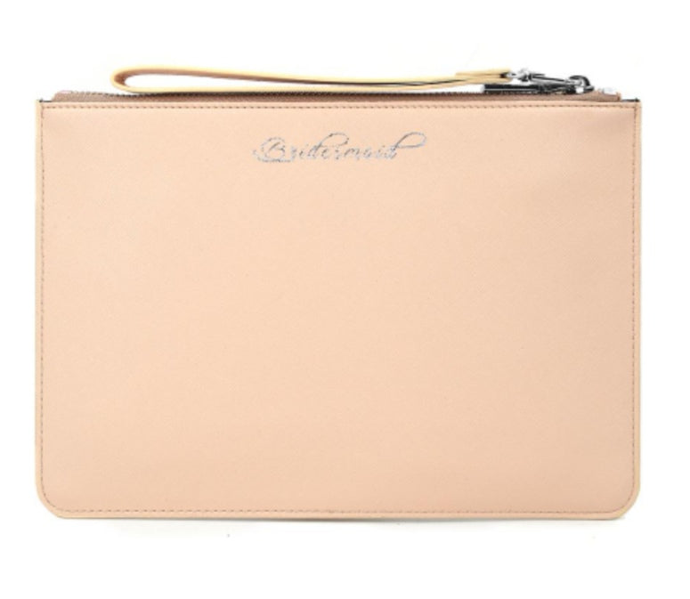 BRIDESMAID clutch bag - NUDE