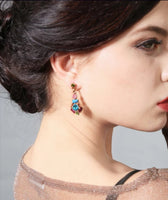 Multicoloured Statement earrings