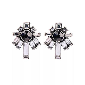 Steel Art Deco earrings