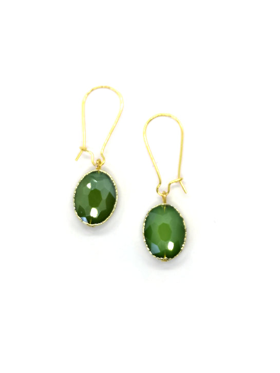 Siobhan Daly Vintage Drop Earrings - EMERALD