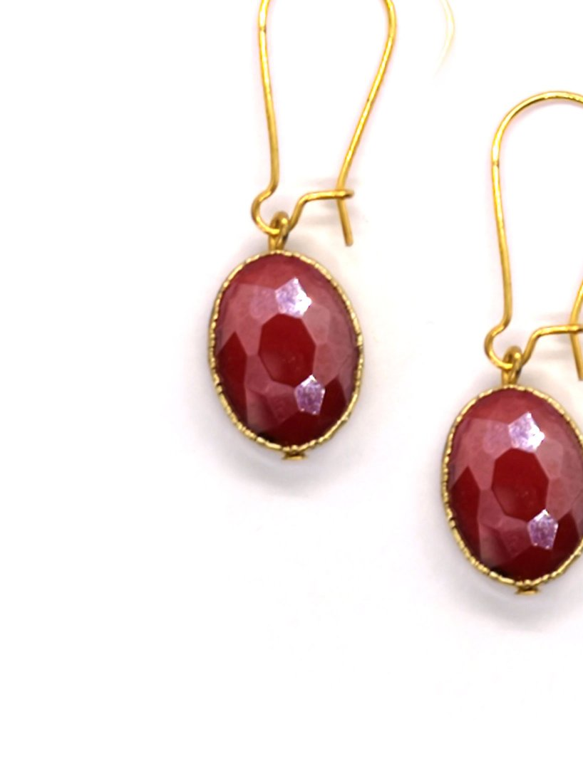 Siobhan Daly Vintage Drop Earrings - RUBY
