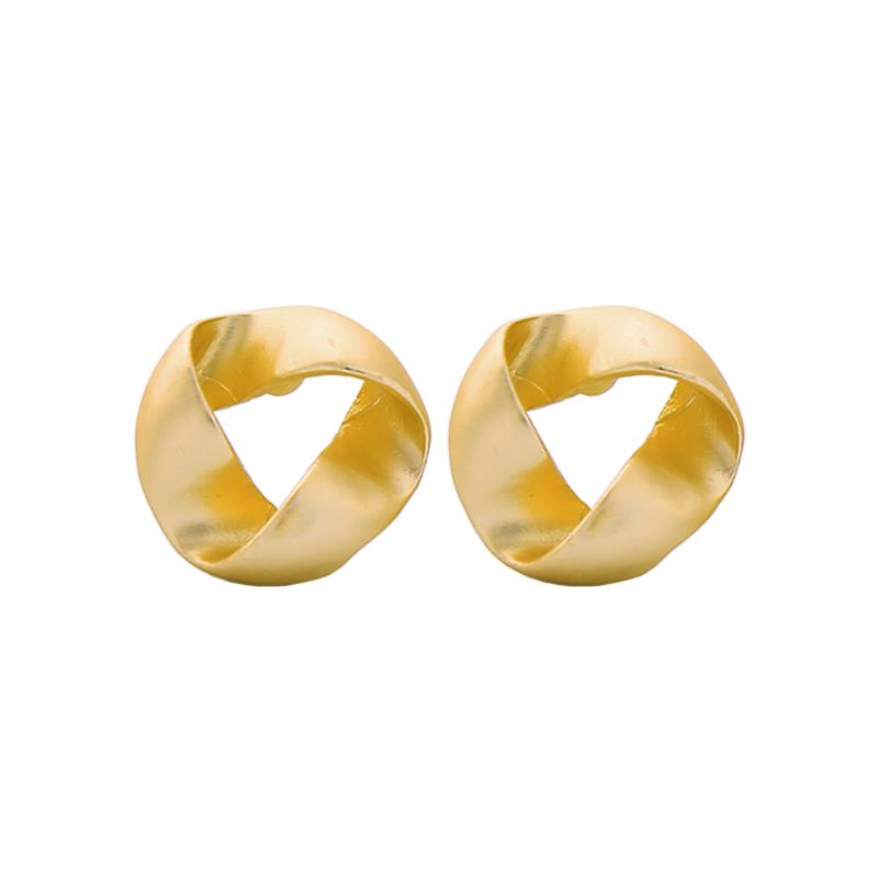 Twisted Matte Gold  Stud Earrings