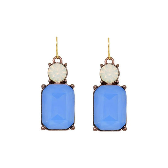French blue & opal earring