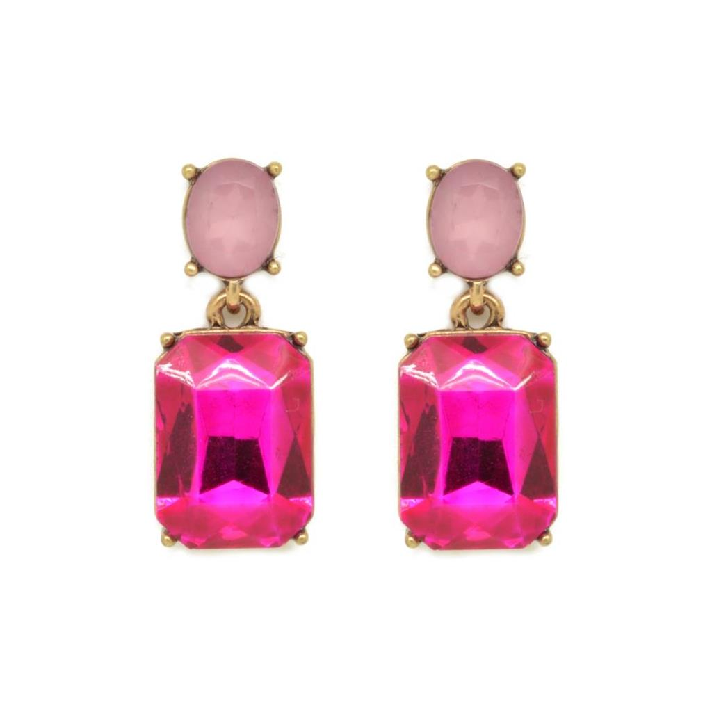 Fuschia Pink drop earrings