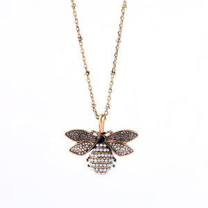 Black and Gold Bee Necklace