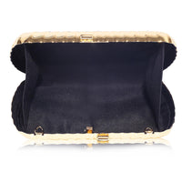 Michelle Gold clutch bag