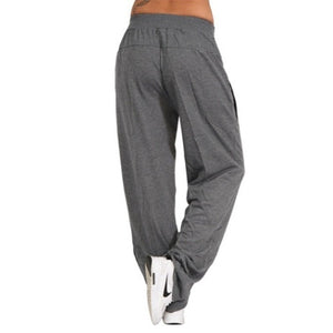 Women's Fashion Loose Casual Pure Color Harem Yoga Joggerpant Trousers Harem Women Trousers Pants