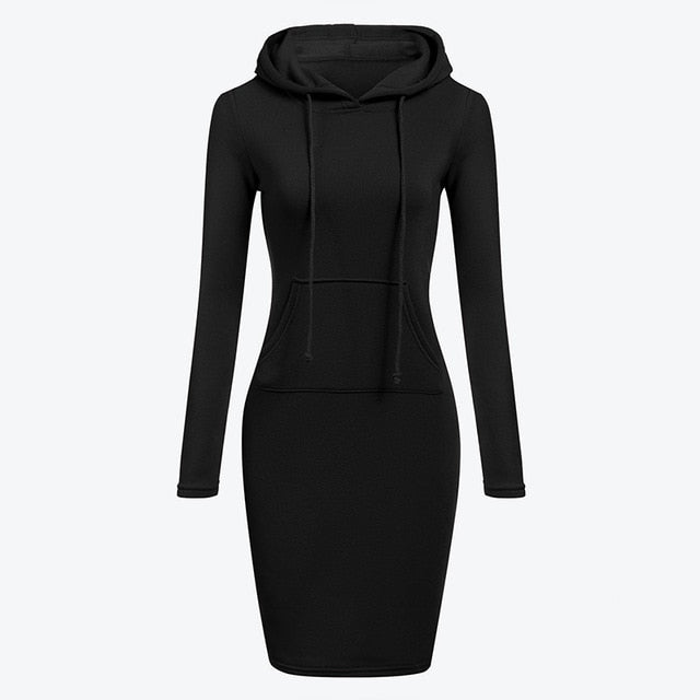 Velvet Hooded Dress