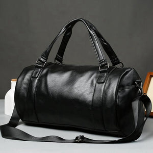 Large Capacity Waterproof Leather Travel Duffel Bag