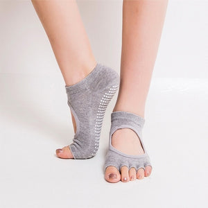 Yoga Backless Five Toe Anti-Slip Socks