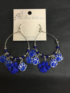 Kentucky Wildcat Paw Print Earrings