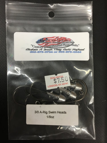 3/0 L&M A-Ring Swim Bait Heads