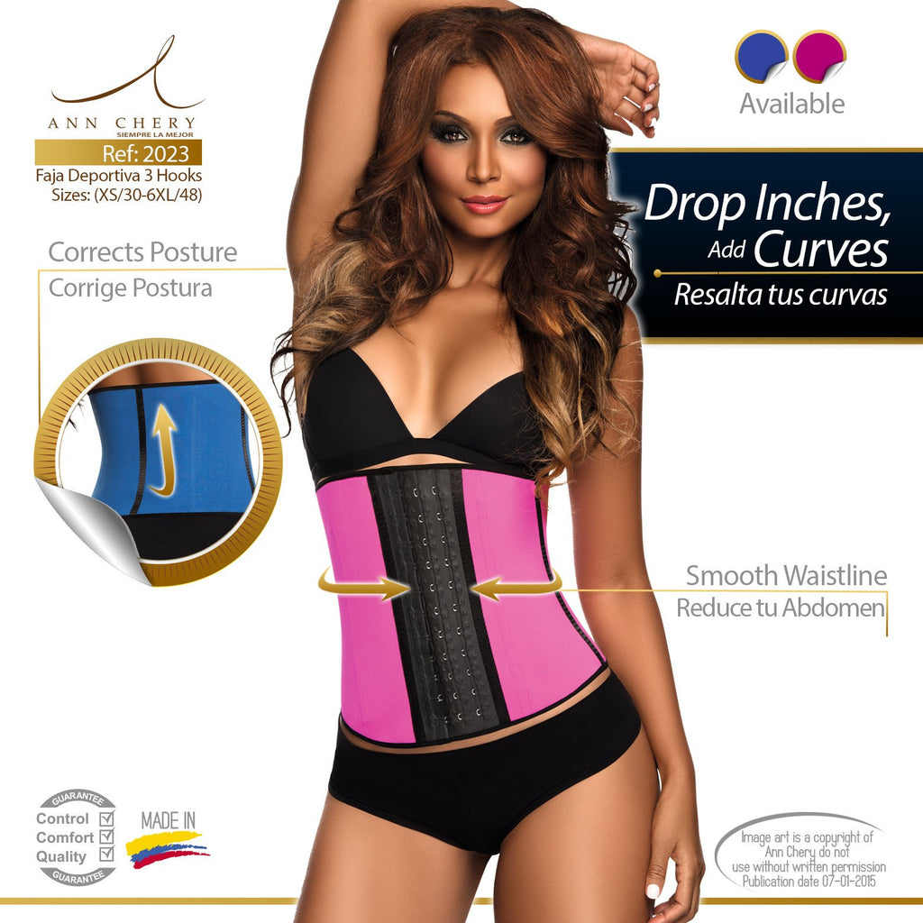 bf57c1f5e6492 Ann Chery Latex Waist Trainer In Color 3-Hooks 2023 – Perfect Shape ...