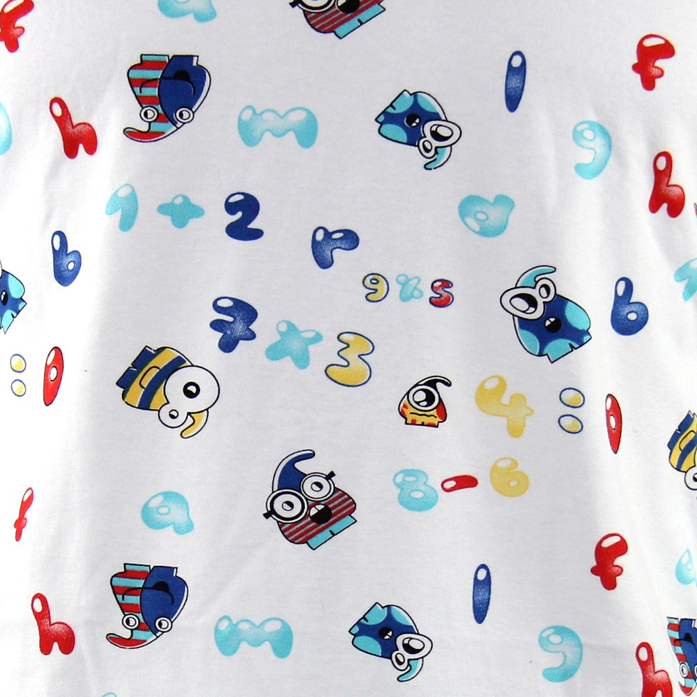 KINS Onezie T-Shirt Letters and Numbers Fun Print 12000LNP