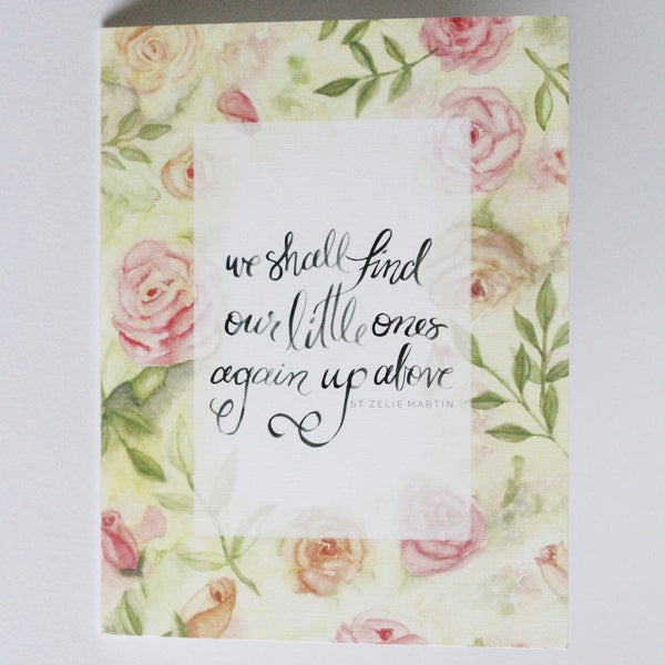 MISCARRIAGE SYMPATHY CARDS, FLORAL, SET OF FOUR