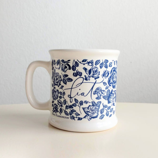 FIAT MUG, WHITE OR BLUE, 14 OZ