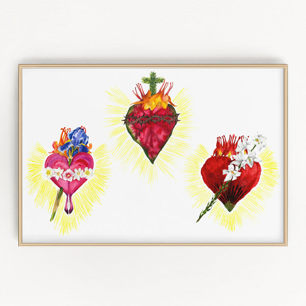 BOTANICAL HOLY FAMILY HEARTS (LANDSCAPE ORIENTATION)