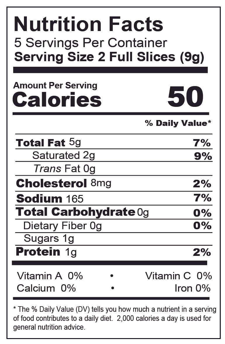 Bacon Nutrition Facts pictures