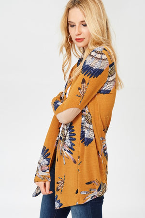 Curvy Girls with Crazy Curves Indian Print Kimono (Plus)