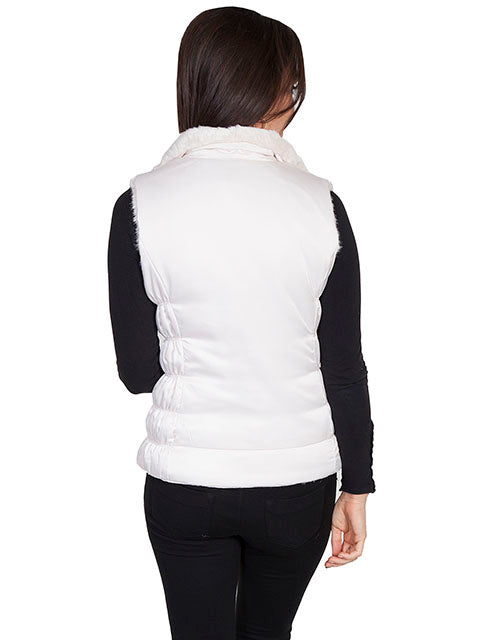 Scully Women's Ivory Color Reversible Faux Fur Vest