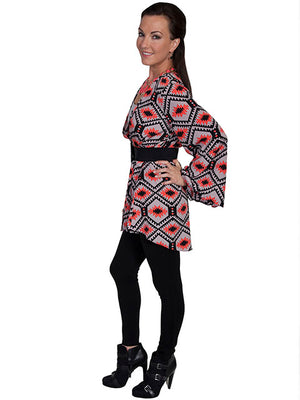 Scully Coral Aztec Cardigan