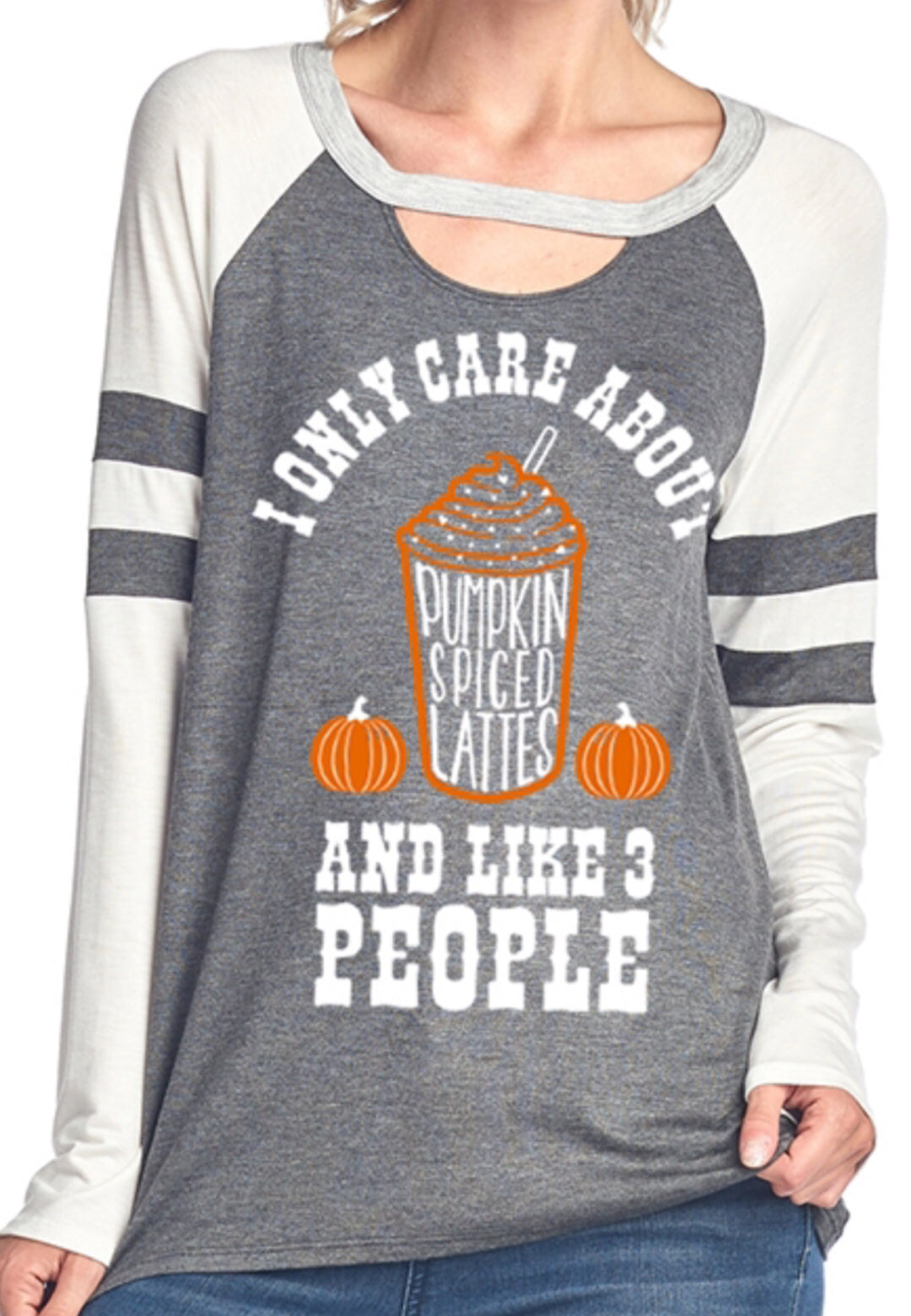 Long Sleeve Pumpkin Spiced Latte Top