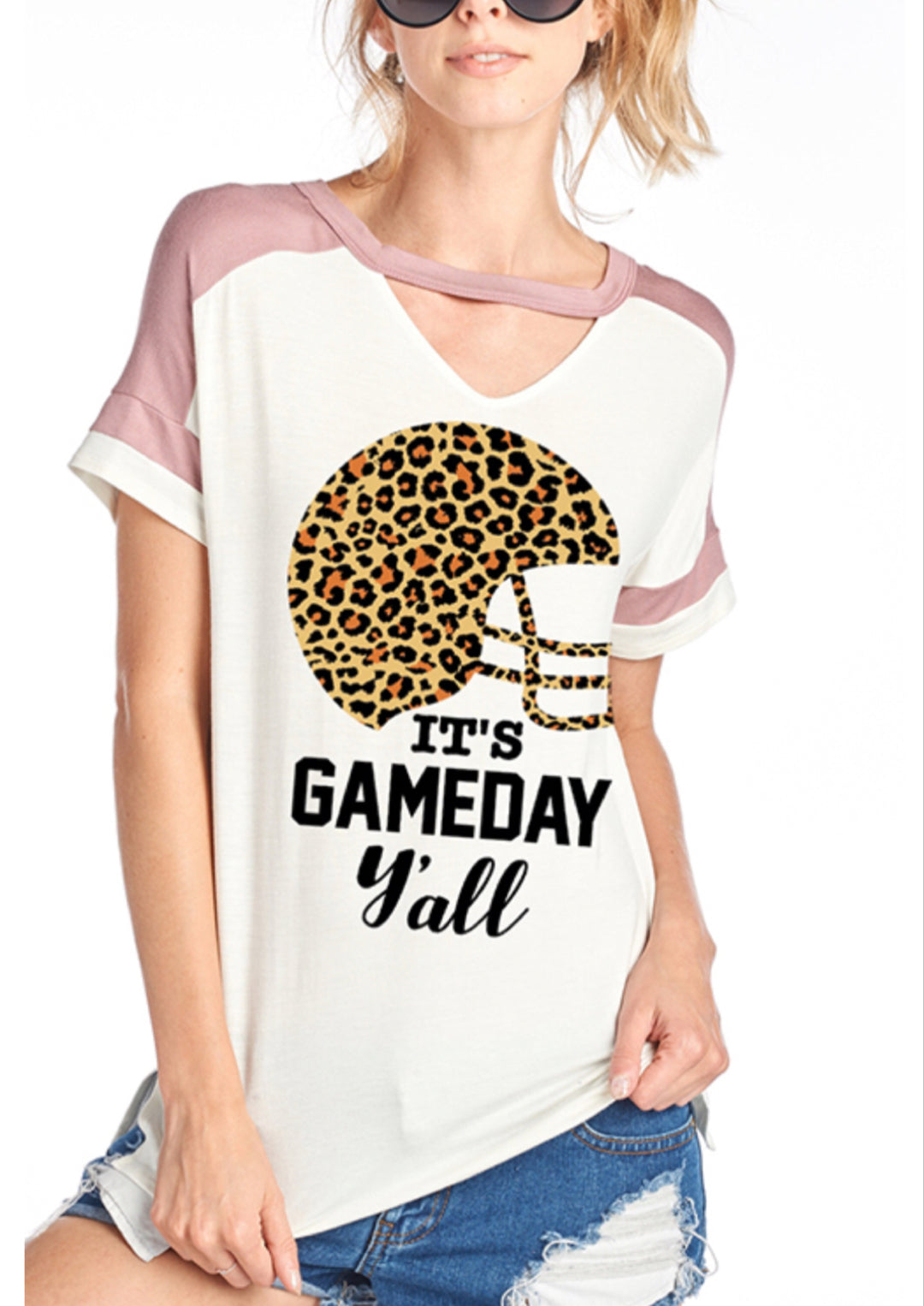 Short Sleeve Printed Football Top