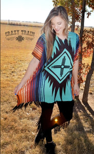 Crazy Train Santa Fe Poncho